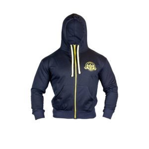 Blue and Yellow Zip Hoody