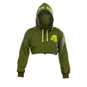 Green Crop Hoody