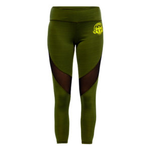 Green Leggings with mesh above knees