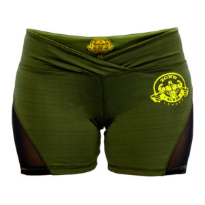Green Shorts With Mesh