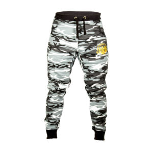 White And Black Camo Jogging Bottoms