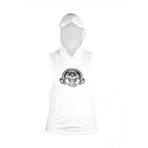 White Sleeveless Hoody