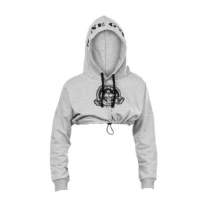 Grey Crop Hoody