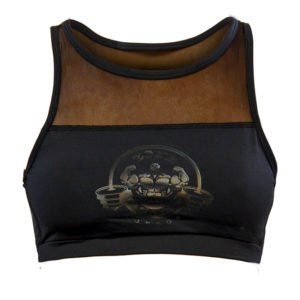 Womens Black Top With Front Mesh